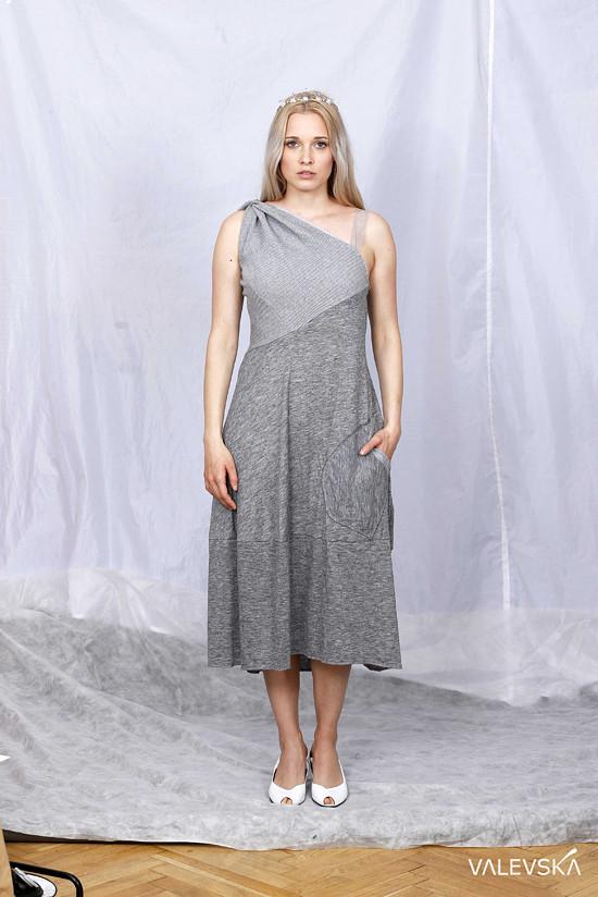 šedé české bavlna šaty valevska móda valevskacom