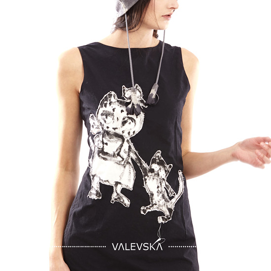 valevska fashion móda czech original painting malba art brute