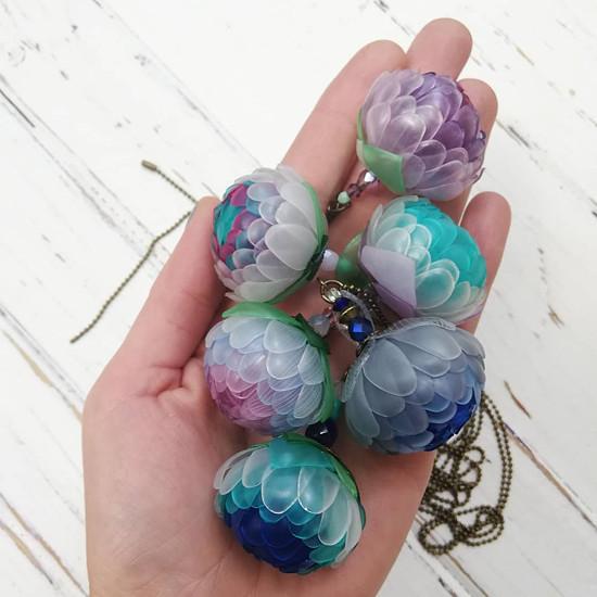 Listopadky náhrdelník z PET lahví