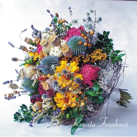 sušená kytice pro nevěstu